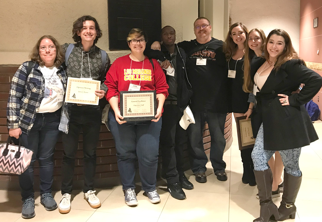 College newspaper The Experience won 19 awards Nov. 16 NorCal journalism conference.