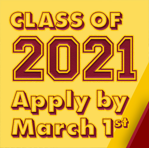 Apply for graduation by March 1