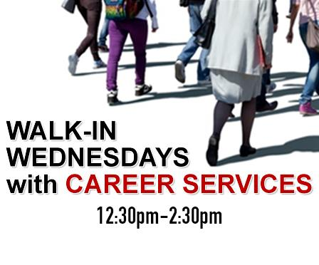 Walk-in Wednesdays with Career Services