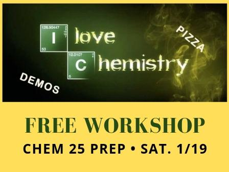 Register for our free Chemistry workshop on Saturday