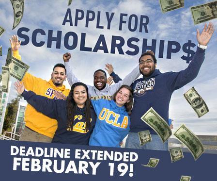Scholarship deadline extended to Feb 19th