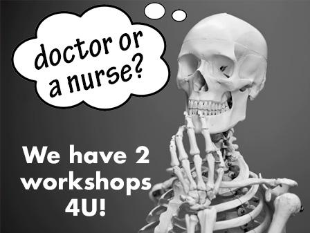 Thinking of being a doctor or a nurse? There is a workshop for you at Transfer week