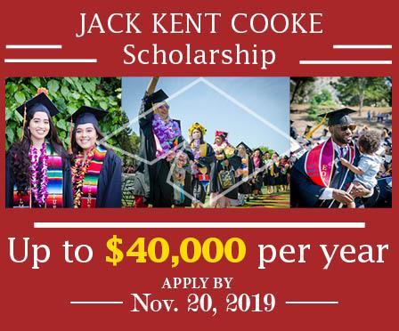 Jack Kent Cooke Scholarship - apply by Nov. 20