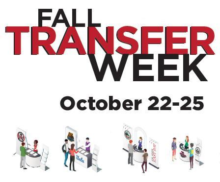 Fall Transfer Week Workshops October 22 - 25