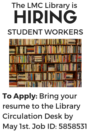 Library is Hiring Student Workers