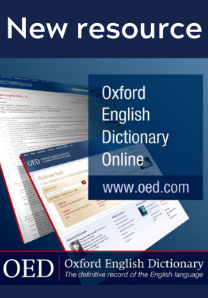New Resource: Oxford English Dictionary Online (OED)