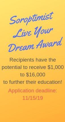Soroptimist Live Your Dream Award