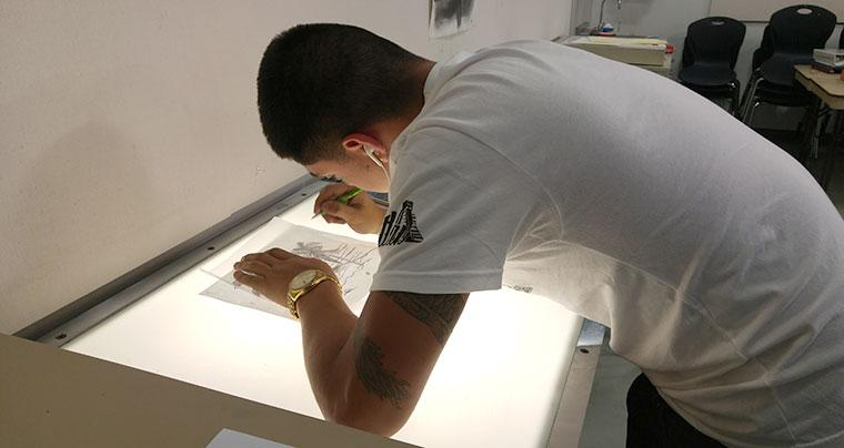 Printmaking - stencil