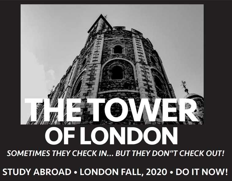 Study Abroad Graphic: Study Abroad, London Fall, 2020, Do it now!