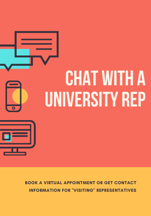 Chat with a university rep