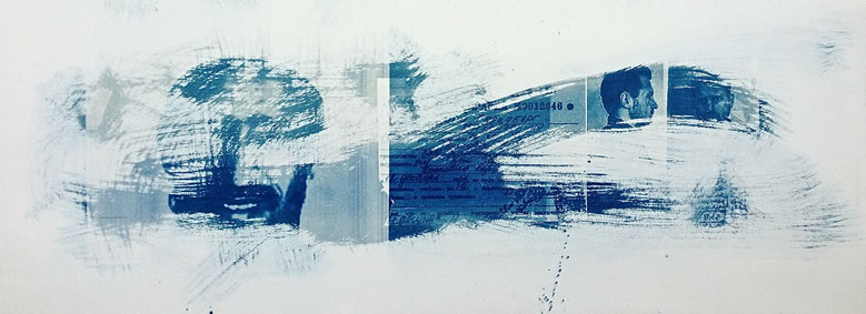 David Grosvenor - cyanotype Looking East to Mecca