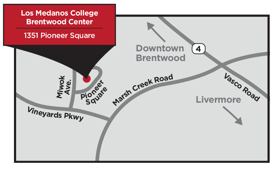 Map of the location of the new Brentwood center