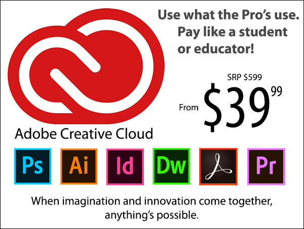 Information on the Adobe Creative Cloud subscription