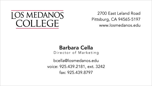 image of business card