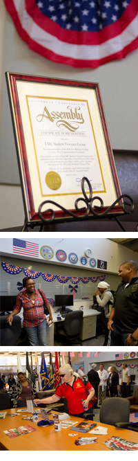 Images of the veterans center