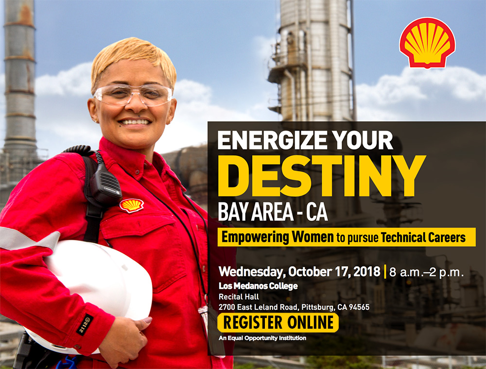 Energize Your Destiny. Women in technical careers. Wednesday, 10/17, 8am - 2-pm at the LMC recital hall