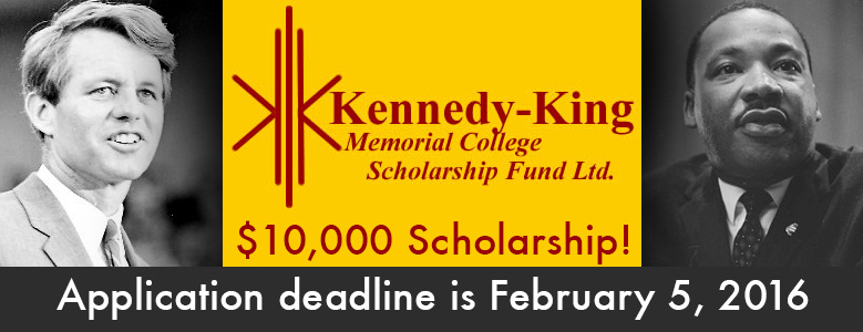 Applly for the 10,000 doller Kennedy King Scholarship