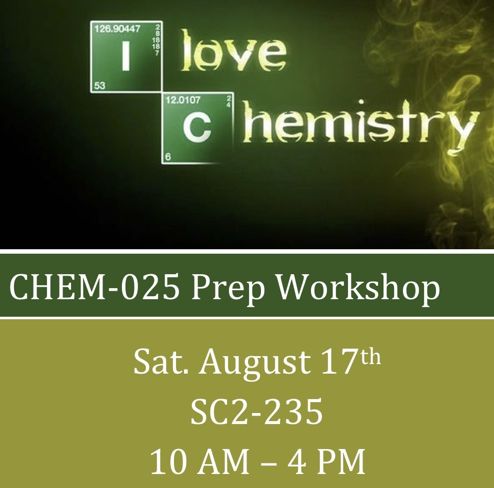 Chemistry Workshop FA19