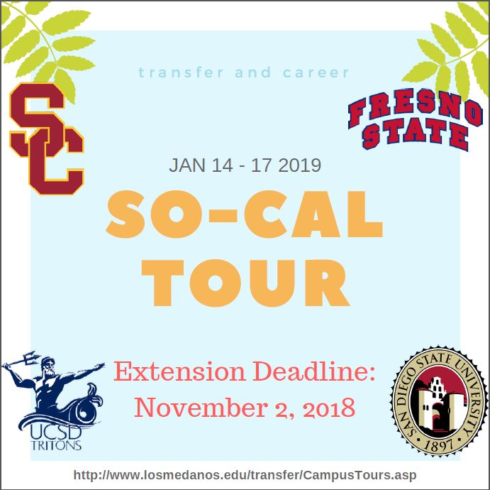 So Cal Tour Deadline Extension!