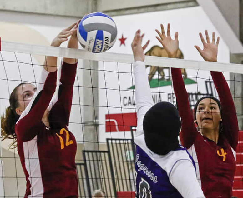 Women's Volleyball action shot